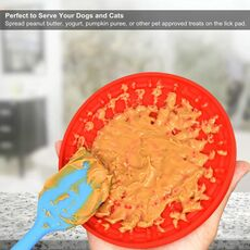 Dog Slow Treater Dispensing Mat Dog Lick pad Peanut Butter Lick mat for Pet Bathing Grooming and Dog Training