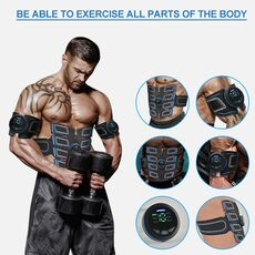 Electrostimulation Muscle Stimulator Trainer EMS Abdominal Vibrating Belt Electric Muscle Shaper Training Gear Home Gym Fitness