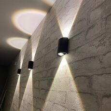 LED Wall Lamp IP65 Outdoor Waterproof Garden Lighting AC86-265 Aluminum Indoor Bedroom Living Room Stairs Wall Light