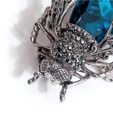 Morkopela Crystal Insect Brooch Beetles Brooches Pin Fashion Brooch For Women Pins Scarf Clip Jewelry Broach Bouquet