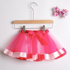 Tutu Skirt Baby Girl Skirts 1 To 8 Years Princess Pettiskirt Party Dance Rainbow Tulle Skirts Girls Clothes Children Clothing