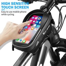 WEST BIKING Bicycle Bag Front Frame MTB Bike Bag Waterproof Touch Screen Top Tube 6-7.2 Inch Phone Bag Case Cycling Accessories