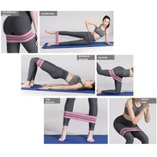 3pcs Fitness Fabric Resistance Bands Set Booty Band Set Gym Workout Elastic Rubber Band Yoga Pilates Sports Hip Training Gear