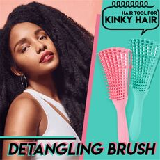 4c Hair Detangler Brush Detangling Brush for Curly Hair Wet Thick Kinky Hair Adjust Hair Brush Scalp Massage Detangle Hairbrush