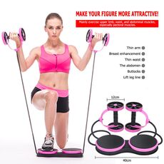 AB Wheels Roller Stretch Elastic Abdominal Resistance Pull Rope  Abdominal Muscle Trainer Exercise Tool AB Roller