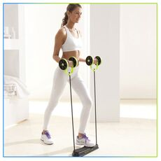 AB Wheels Roller Stretch Elastic Abdominal Resistance Pull Rope Tool  Abdominal Muscle Trainer Exercise Home Fitness Equipment