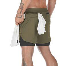 ADED Hot Summer Running Shorts Men 2 in 1 Sports Jogging Fitness Shorts Training Quick Dry Male Gym Men Sport Short Pants