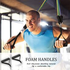 Eight kinds of Resistance Bands Sets Elastic Tubes Band Training Yoga Exercise Fitness Workout Gym Expander Pilates Equipment