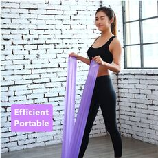 Pilates Theraband Elastic Gym Gum Men Women Leagues Exercise Stretching Legs Bodybuilding Rubber Fitness Equipment for Home Gym