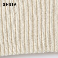 SHEIN Beige V-Neck Ribbed Knit Crop Sweater Vest Women Spring Sleeveless Solid Cute Top Slim Fit Casual Vests