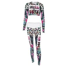 Sexy Sports Suit Women Printed Fitness Yoga Set Tracksuit Gym Jogging Sportswear Running Top&Leggings Sport Fitness Suit Mujer