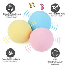 Smart Cat Toys Interactive Ball Catnip Cat Training Toy Pet Playing Ball Pet Squeaky Supplies Products Toy for Cats Kitten Kitty