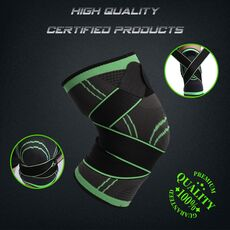 WorthWhile 1PC Sports Kneepad Men Pressurized Elastic Knee Pads Support Fitness Gear Basketball Volleyball Brace Protector