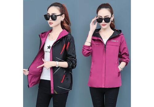 2020 Spring Autumn Women Jacket fashion Hooded Two Side Wear Cartoon Print Outwear women Loose Coat female Windbreaker tops P369